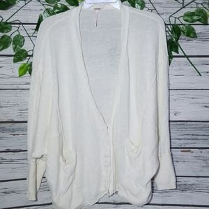 Free People oversized slouch cardigan sweater sz M